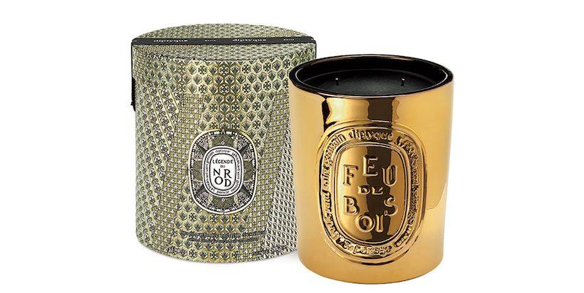 diptyque - Bougie parfumée Feu de Bois Or - Édition limitée 1K5g - 450€