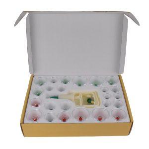 Feibrand 24 pcs Vide Ventouses Chinoises Medicale Therapeutique Avec 12 Tête Magnétique en Plastique - Chez Amazon 23,65€