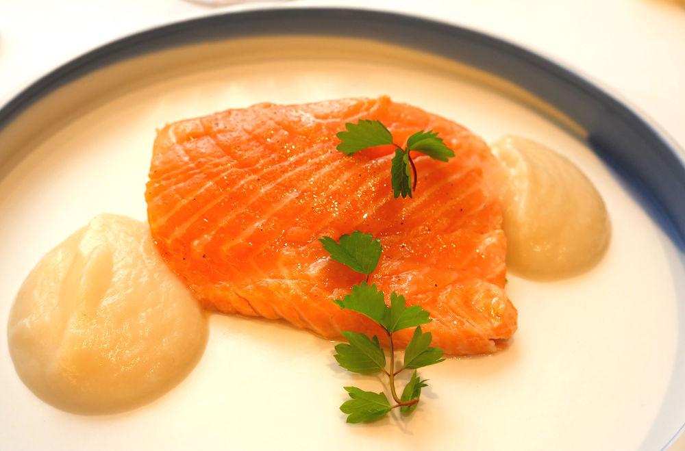 Hautes Exigences LMDL- Restaurant Étude Paris 16 Plat Truite Banka, Poireaux & Navet Tokyo