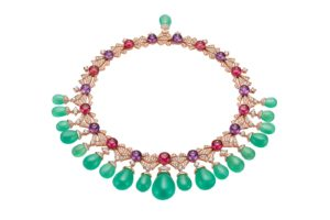 Bvlgari - Cinemagia - Collier Charming Sirens - Chrysoprases, Améthystes, Tourmalines roses, Diamants et Or Rose