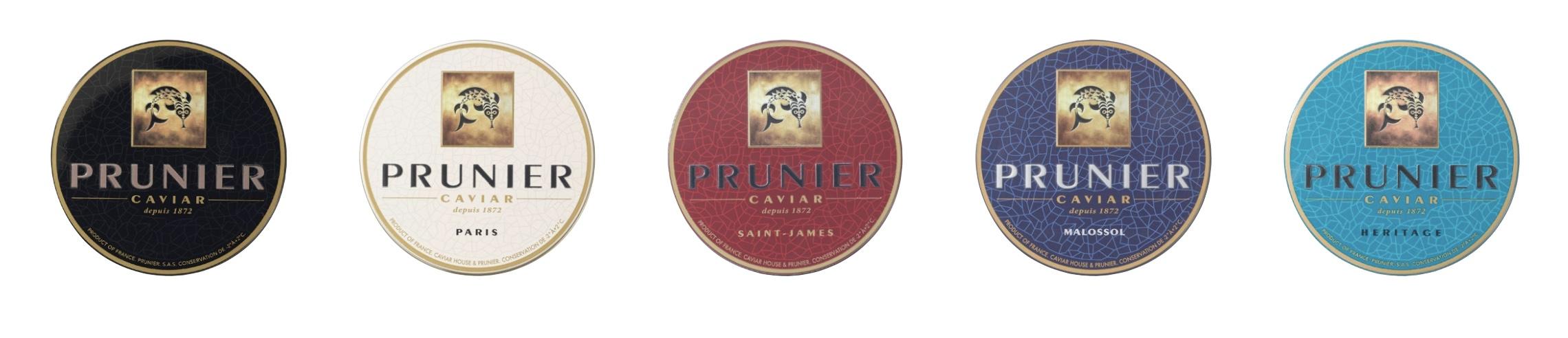 Les 5 grands caviars de la Maison Prunier