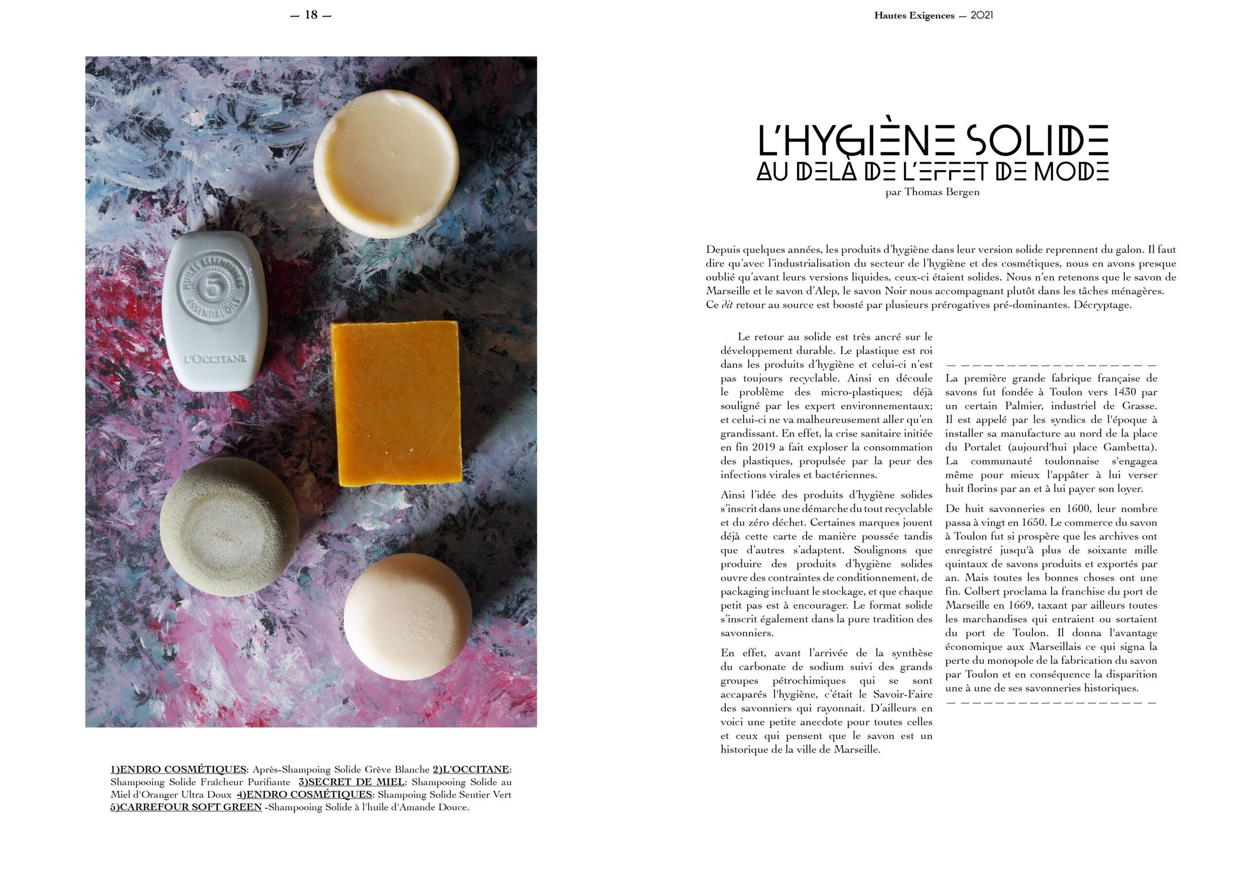 Hautes Exigences Magazine Hors Serie 2021 page 18-19