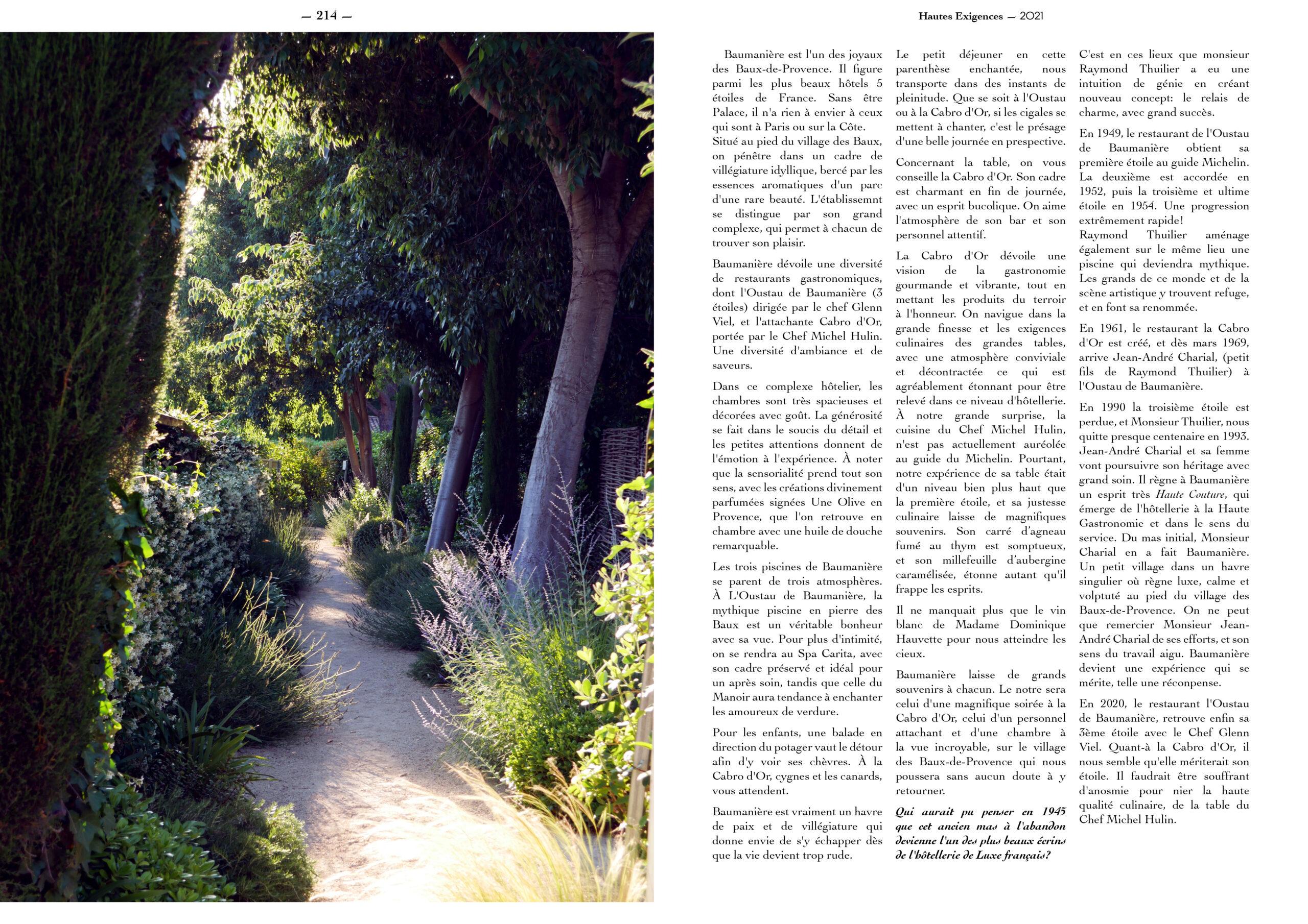 Hautes Exigences Magazine Hors Serie 2021 page 212-213