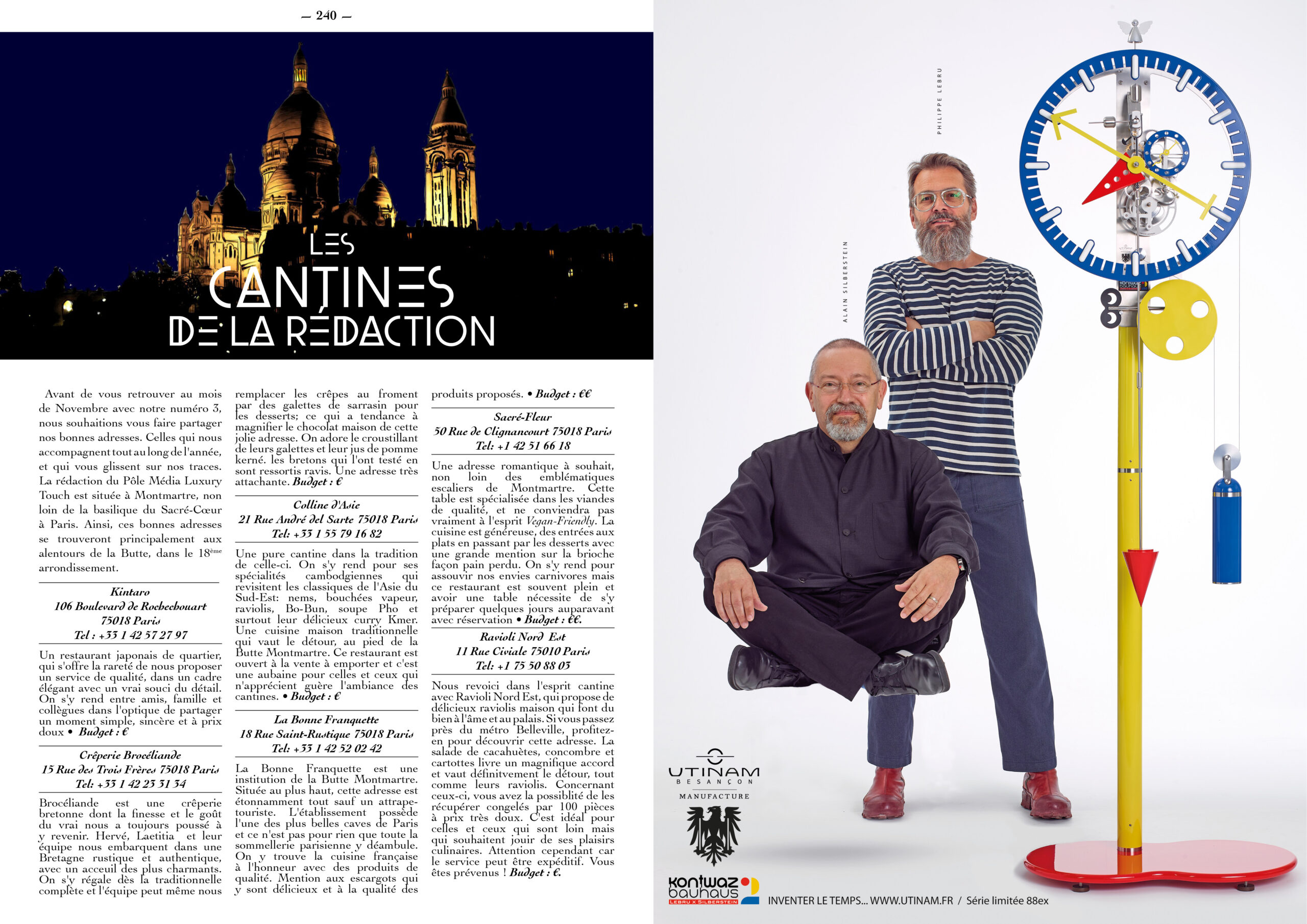Hautes Exigences Magazine Hors Serie 2021 page 238-239