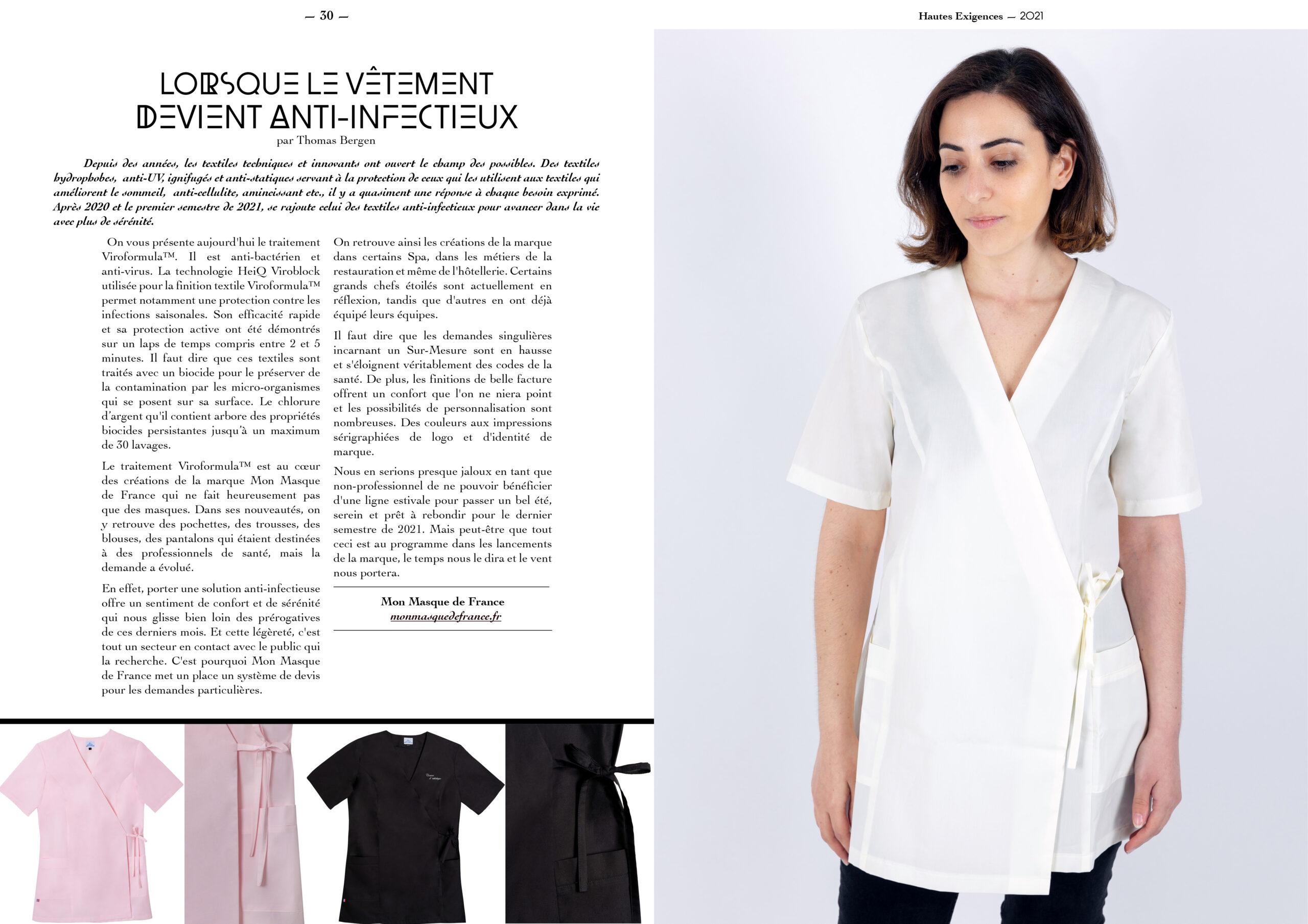 Hautes Exigences Magazine Hors Serie 2021 page 30-31