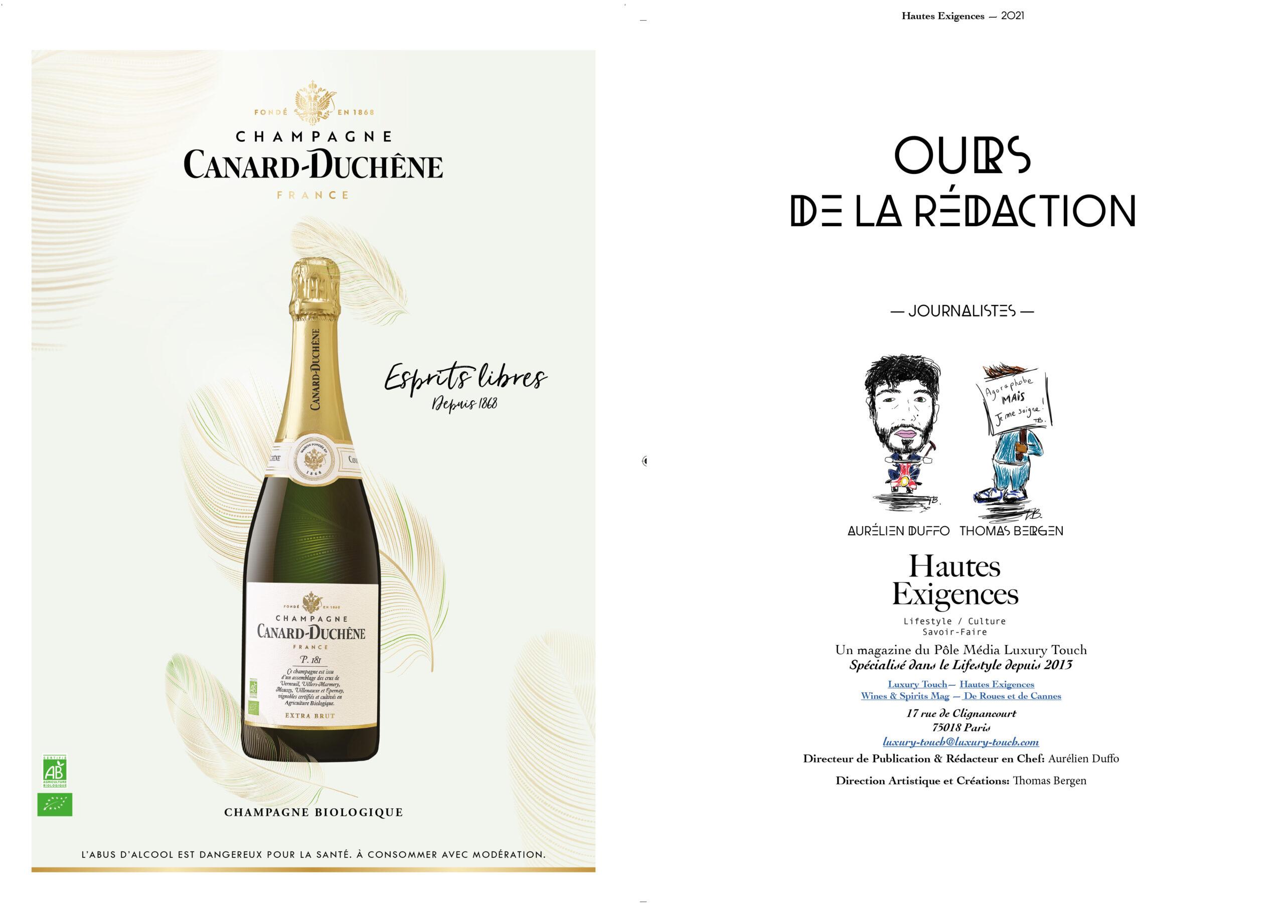 Hautes Exigences Magazine Hors Serie 2021 page 4-5