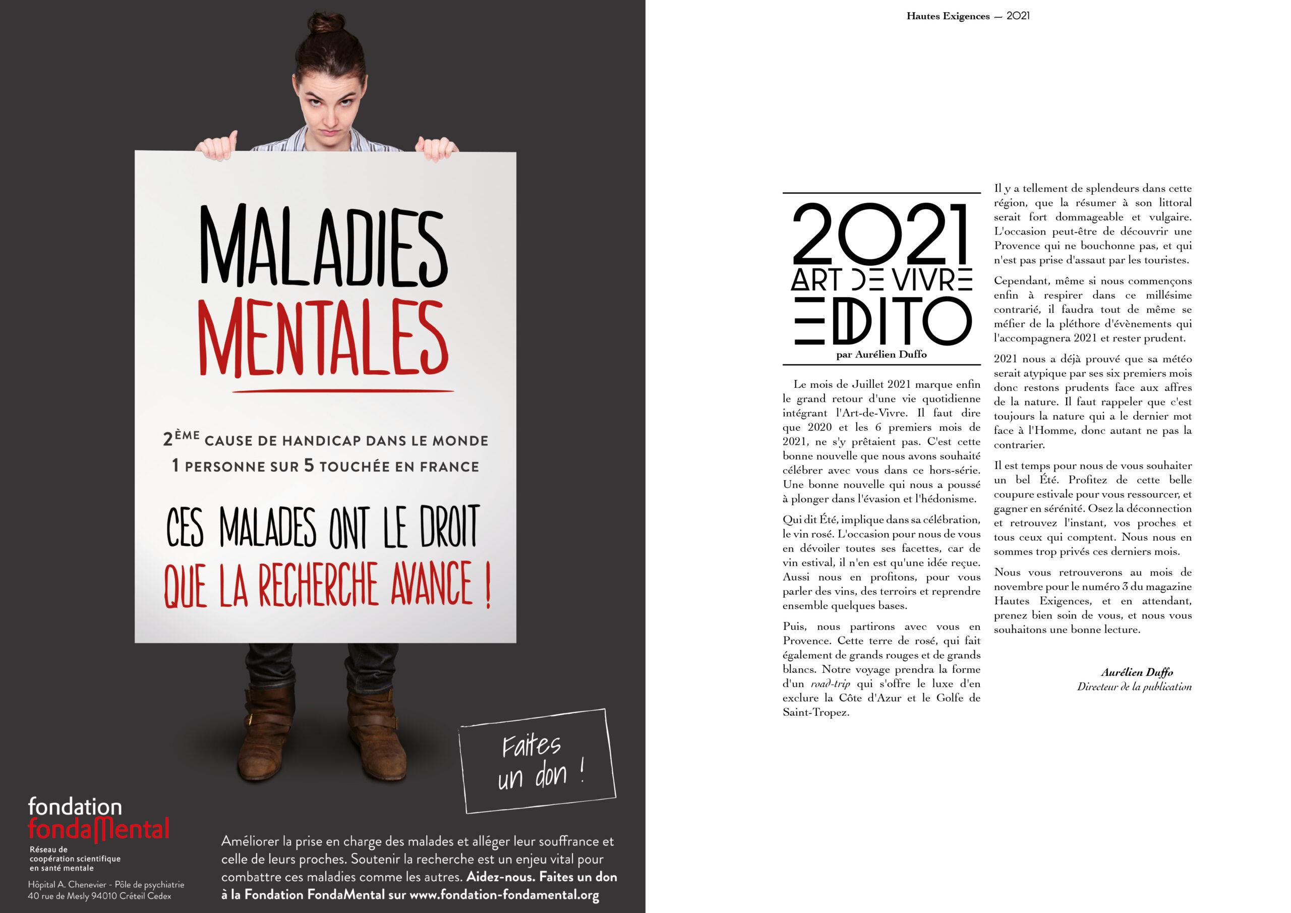 Hautes Exigences Magazine Hors Serie 2021 page 6-7