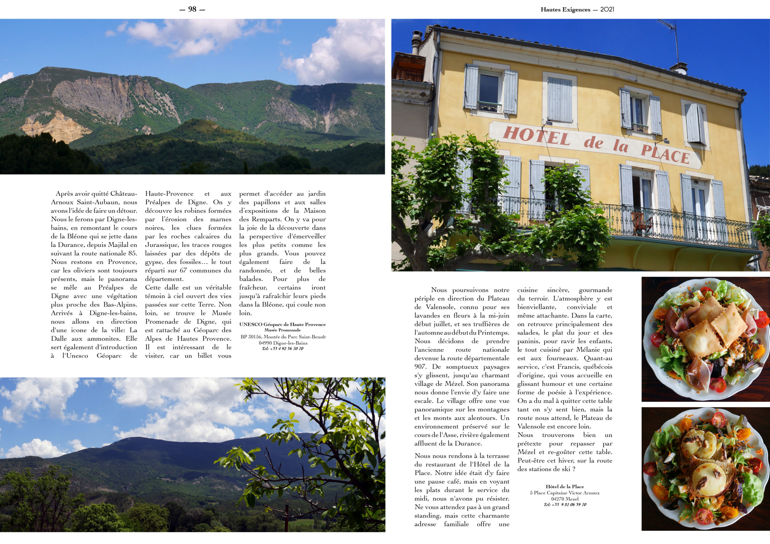 Hautes Exigences Magazine Hors Serie 2021 page 96-97