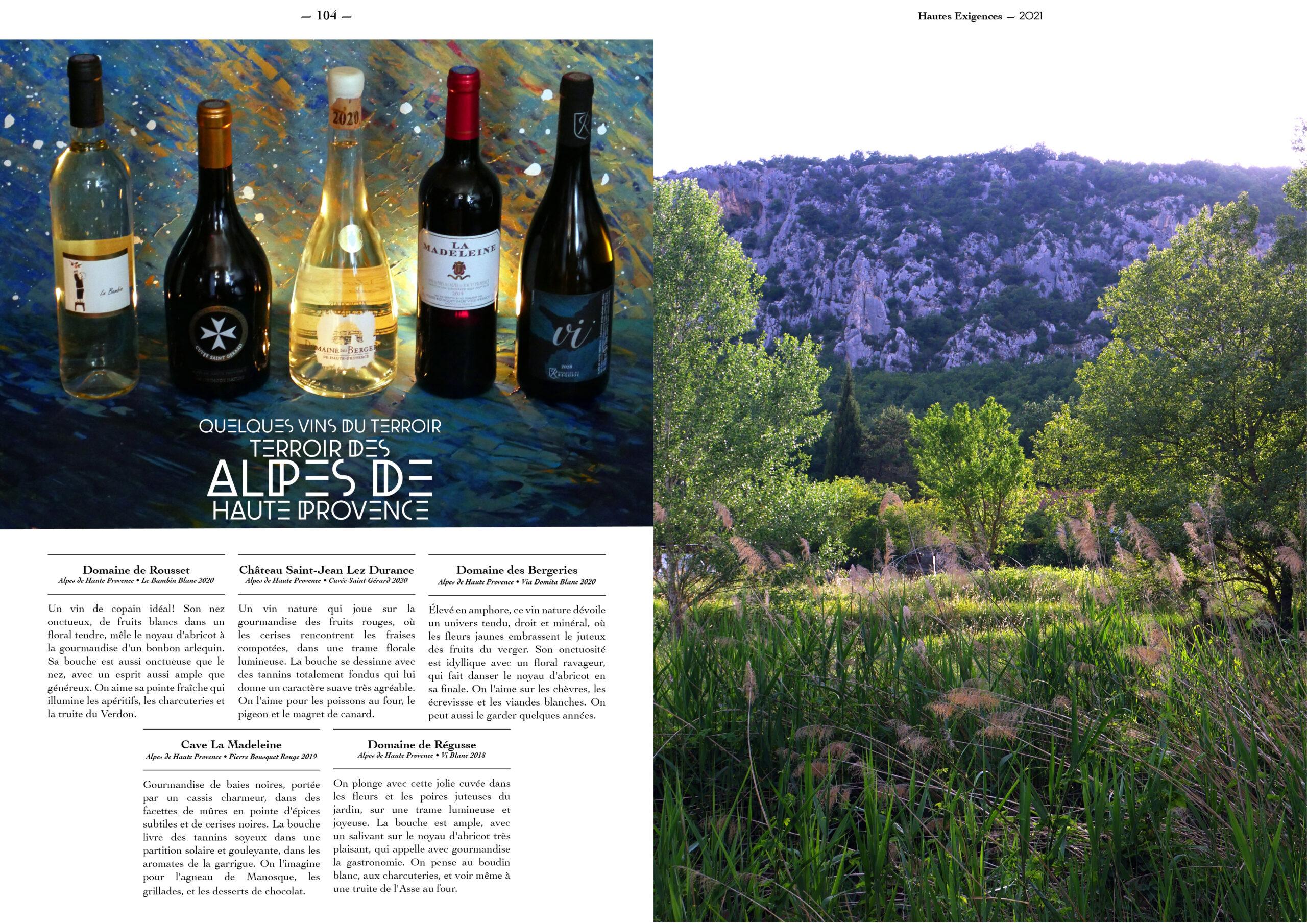 Hautes Exigences Magazine Hors Serie 2021 page 102-103