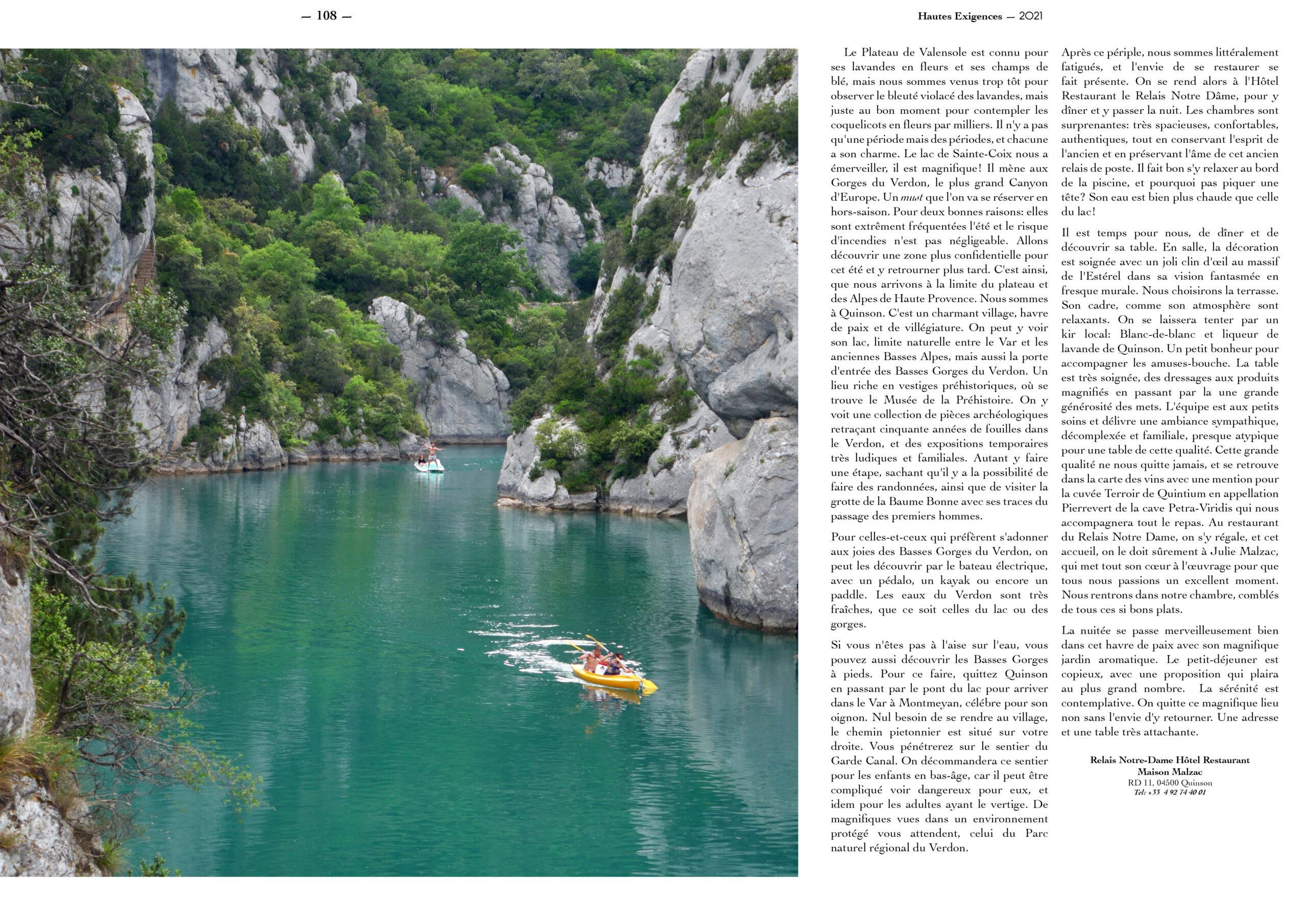 Hautes Exigences Magazine Hors Serie 2021 page 106-107