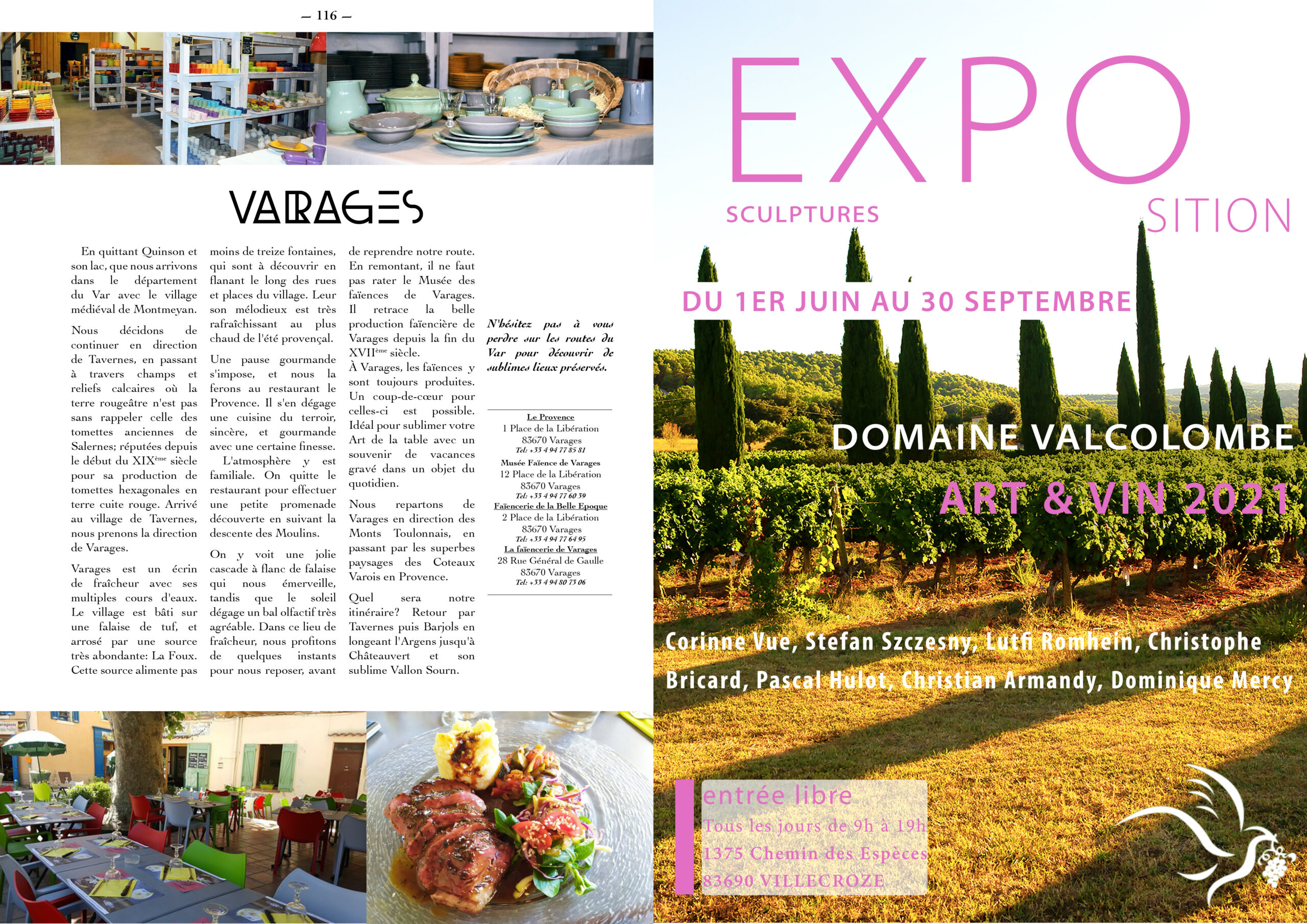 Hautes Exigences Magazine Hors Serie 2021 page 114-115