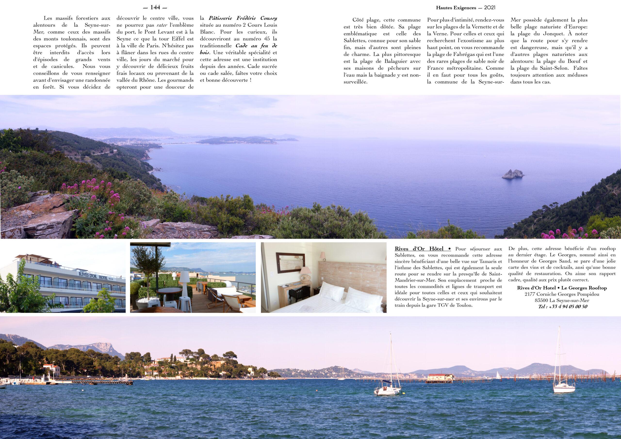 Hautes Exigences Magazine Hors Serie 2021 page 142-143
