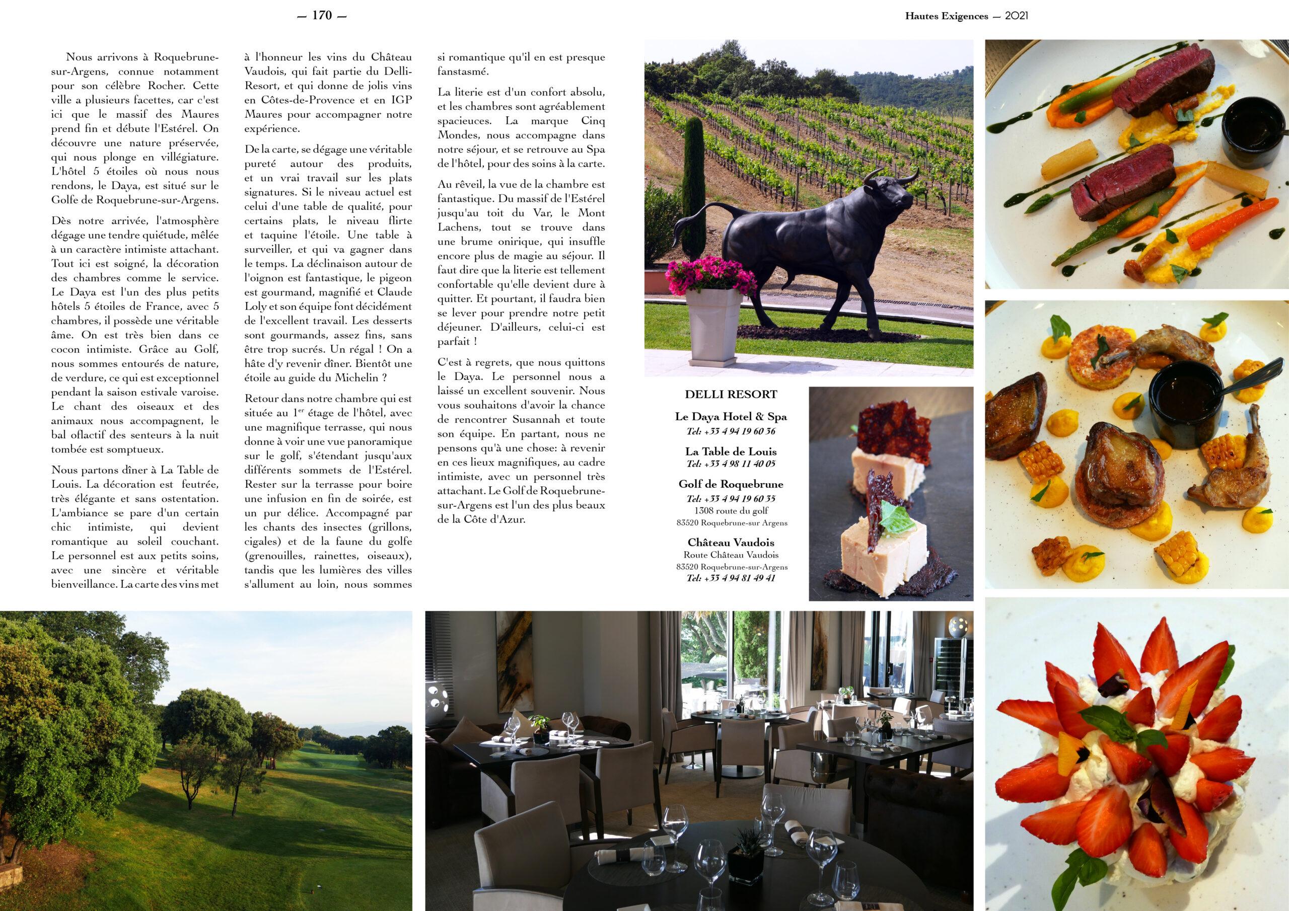 Hautes Exigences Magazine Hors Serie 2021 page 168-169
